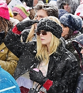 elle fanning, sundance 2018, respect rally, park city