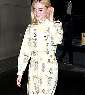 elle fanning, new york city, candids
