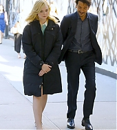 elle fanning, candids, new york city, woody allen, set, october 05 2017