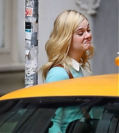 elle fanning, woody allen, on set, candids, october 06 2017