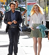 elle fanning, woody allen, on set, candids, october 10 2017