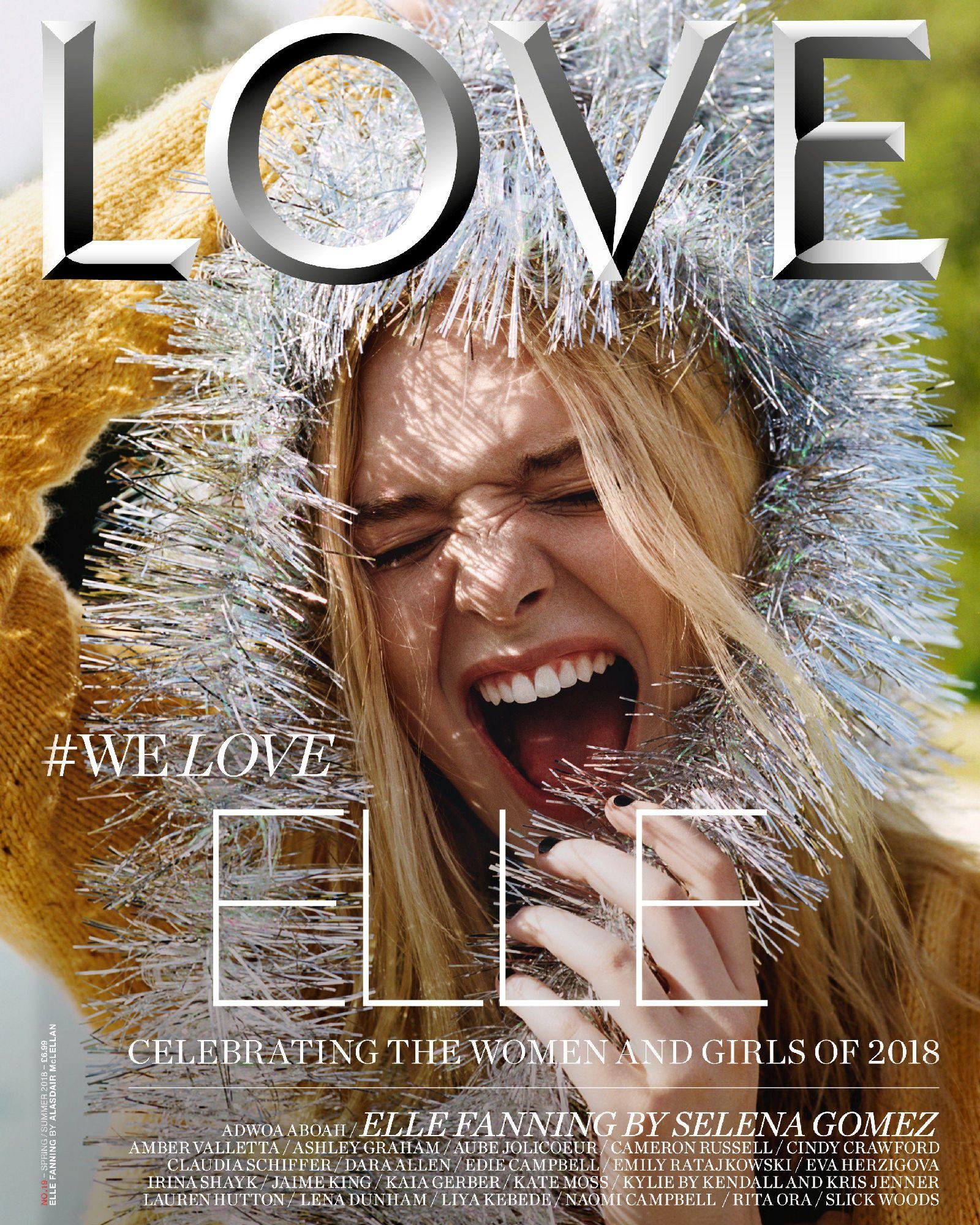elle fanning, love magazine, 2018, spring summer